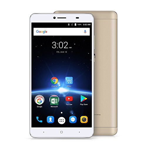 """iRULU GeoKing 3 Max Smartphone, Android 7.0 Unlocked Cell Phone, 4G LTE GSM/WCDMA Fingerprint Octa-Core, AT&T, T-Mobile, 6.5"""" Full HD IPS Touch Screen Display, 3GB Ram+32GB Rom - G36 Gold"""