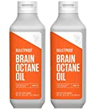 Bulletproof Brain Octane MCT Oil, Perfect for Keto and Paleo Diet, 100% Non-GMO Premium C8 Oil, Ketogenic Friendly, Responsibly Sourced from Coconuts Only, Made in the USA (2pack of 32oz)