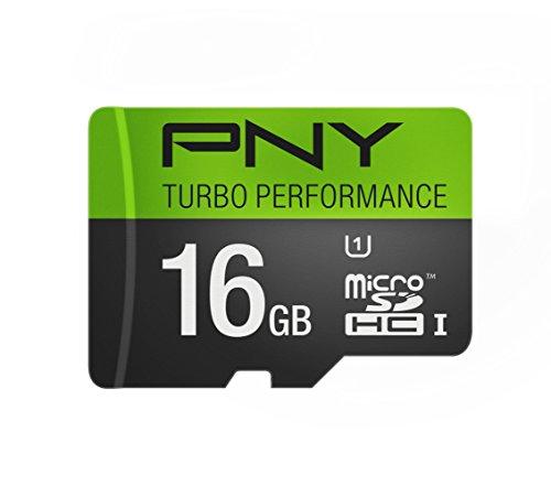PNY Turbo Performance 16GB High Speed MicroSDHC Class 10 UHS-I, U1 up to 90MB/sec Flash Card (P-SDU16GU190G-GE)