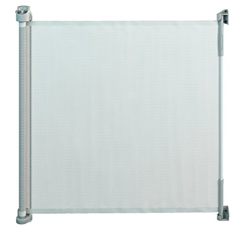 "Gaterol Active Lite White - Retractable Safety Gate - Super Safe 36.6"" Tall and Opens up to 55"""