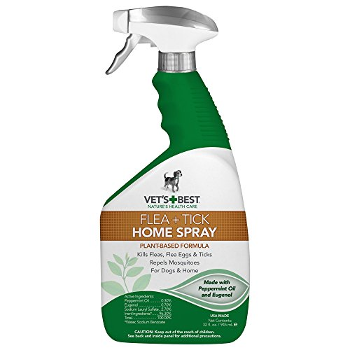 Vet's Best Flea and Tick Home Spray for Dogs and Home, USA Made