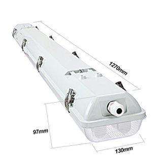 Brillihood-LED-Vapor-Proof-4ft-Light-Fixture-36-Watt-4000lm-6000K-Bright-White-Clear-Cover-IP65-Waterproof-4-Long-Overhead-Shop-Light-Indoor-Outdoor-Lighting-4-Pack