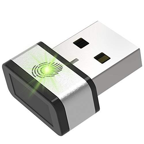 GMYLE Mini USB Fingerprint Reader for Windows 7,8 & 10 Hello, 360° Touch Speedy Matching Multi Biometric fido Security Key – Website Login, Windows Login, File Encryption and More (Single)