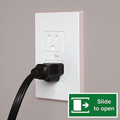Jambini Self-Closing Outlet Covers - An Alternative To Socket Plugs - 3 pack
