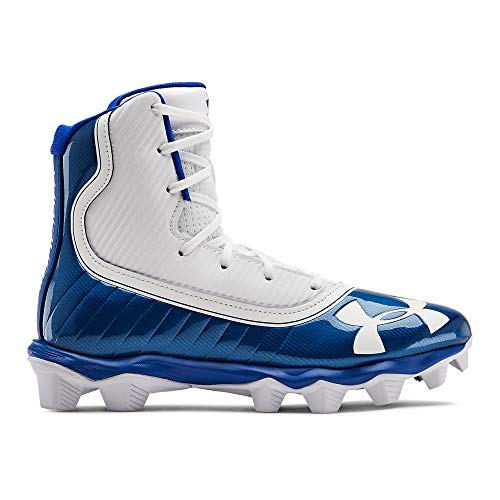 Under Armour Boys' Highlight RM Jr. Football Shoe, Team Royal (401)/White, 6 M US Big Kid