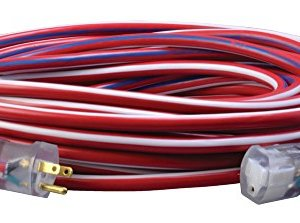 Coleman Cable Contractor Grade 12/3 with Lighted End American Made Extension Cord