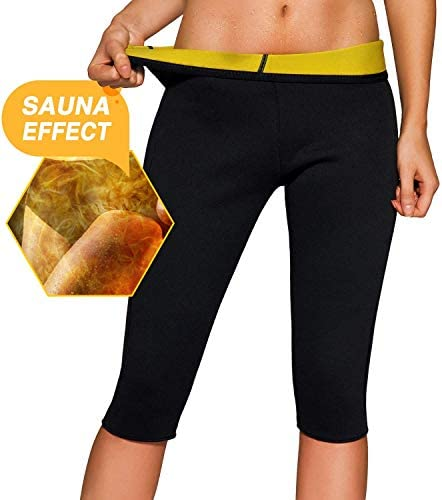 IFLOVE Women's Body Shaper Sauna Slimming Pants Hot Thermo Neoprene High Waist Sweat Capris Workout Shapers for Weight Loss 3