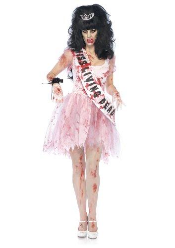 Leg Avenue Women's 3 Piece Putrid Prom Queen Costume, Pink, Medium/Large
