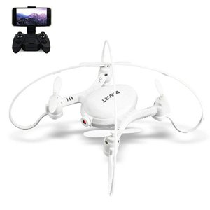 Rabing FPV WiFi RC Quadcopter 2.4GHz 6-Axis Gyro Remote Control Drone with Altitude Hold and Hand Launching, White 41lCMhFVTFL
