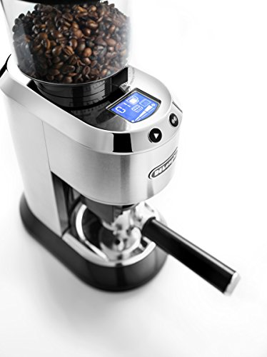 De'Longhi Dedica Conical Burr Grinder with Portafilter Attachment, 6.9 x 11.2 x 18.1 inches, Silver 4