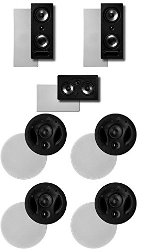 Polk Surround System: Pair of 265rt, One 255crt In-wall Front, 2pairs 70rt (Bundle of 7 Speakers) In-ceiling Rear