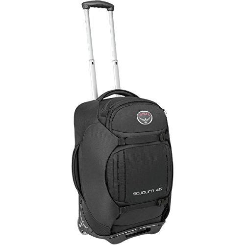 Osprey Packs Sojourn Wheeled Luggage, Flash Black, 45 L/22'