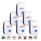 Ultrasonic Vermin Repeller - 2019 Newest Electronic Vermin Control Ultrasonic Repellent Indoor Plug and Play for Garden, Bedroom, Kitchen, Living Room Give You a Comfortable Life (6 Packs)
