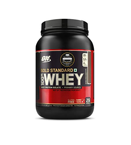 Optimum Nutrition (ON) Gold Standard 100% Whey Protein Powder – 2 lbs, 907 g (Double Rich Chocolate)