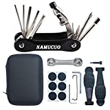 NAMUCUO Bike Repair Kit-Bicycle Tool kit with 10 in 1 Multi-Function Bike Tool(Equipped with Chain Tool), Multi-Purpose Bone Wrench and Related Spare Tools, Portable Tool Bag, 6 Month Warranty