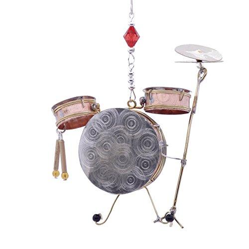 Drum Set Kit Bronze Nickel and Copper Hanging Ornament Garden Planter Handmade Gift Boxed