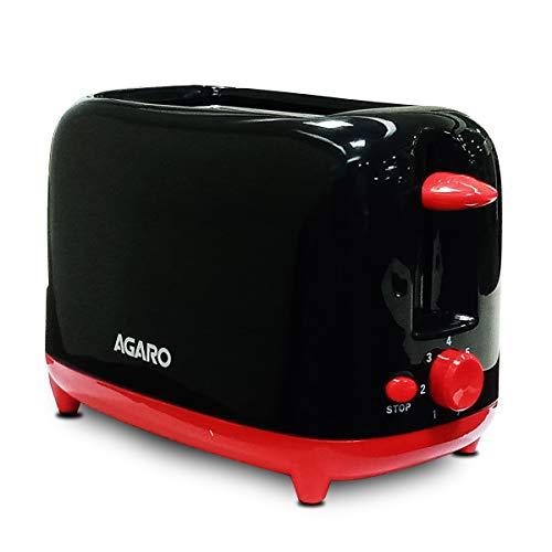 AGARO-33406-Olympia-750-Watt-2-Slice-Pop-Up-Toaster-with-7-Toasting-Settings-Removable-Crumb-Tray-Black