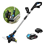 Prostormer String Trimmer/Edger, 20V Max Cordless Grass Trimmer with Automatic Feed Spool, 12-Inch Cutting Path, 2.0Ah Lithium-ion Battery and 1 Hour Fast Charger Included