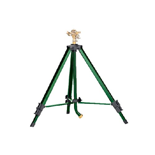 Orbit Heavy Duty Brass Lawn Impact Sprinkler on Tripod Base, Water Yard – 58308N