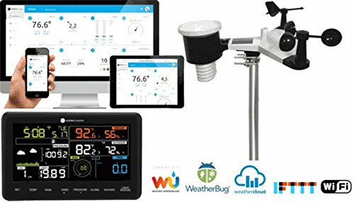 Ambient Weather WS-2902 10-in-1 Wi-Fi Professional Weather Station with Internet Monitoring, Compatible with Alexa
