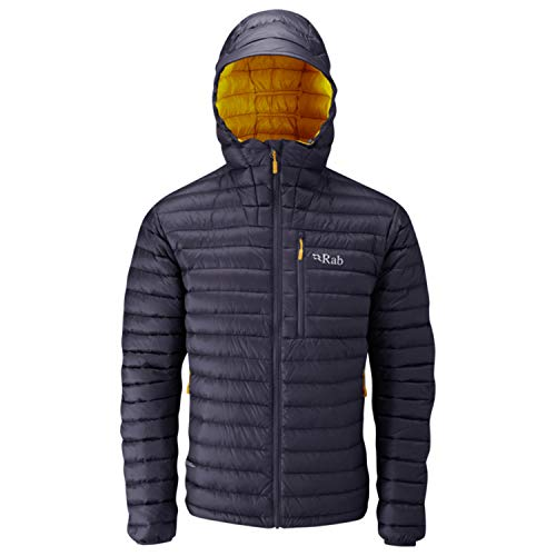 RAB Men's Microlight Alpine Jacket - Steel/Dijon - Small