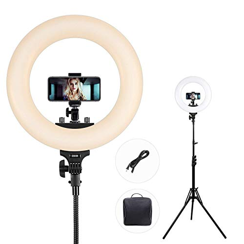Ring Light, ESDDI Dimmable Camera Photo Video LED Lighting Kit