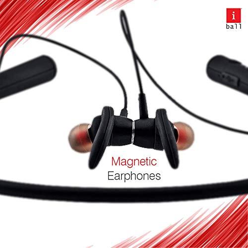 iBall EarWear Base BT 5.0 Neckband Earphone with Mic and 12 Hours Battery Life (Black) 7