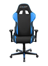 DXRacer Formula Series DOH/FH11/NB Newedge Edition Office Chair Recliner Esport WCG IEM ESL Dreamhack PC Gaming Chair Ergonomic Computer Fabric Chair Rocker Comfortable Chair With Pillows (Black/Blue)