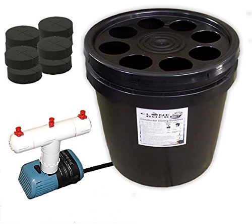 8 Site Aeroponic Plant Cloner - Clone Bucket 8 Black Edition From Hydro West