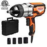 Dobetter Electric Impact Wrench 1/2 Inch Corded Impact Gun with Tool Case and 4 Sockets 8.5 Amp 480 N.m Max Torque -DBIW1020