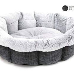 Best Pet Supplies Round Bed for Pet, Large, Charcoal (Round)