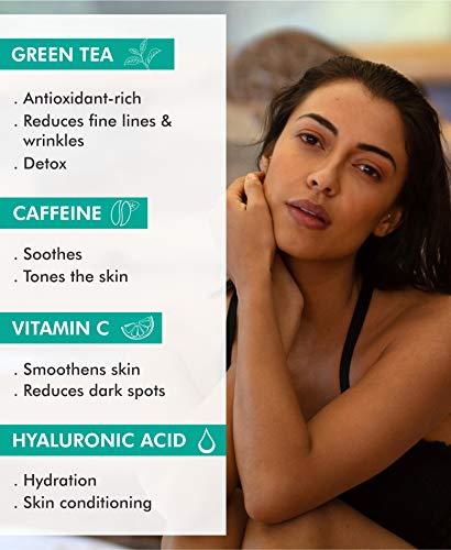 41lkv9QnYAL - mCaffeine Naked Detox Green Tea Night Gel | Moisturization | Vitamin C, Hyaluronic Acid | All Skin | Paraben & Mineral Oil Free | 50 ml