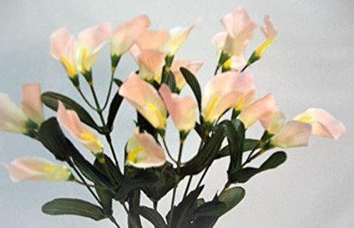27 calla lilies peach silk wedding bouquet centerpieces artificial 27 calla lilies peach silk wedding bouquet centerpieces artificial flowers mightylinksfo