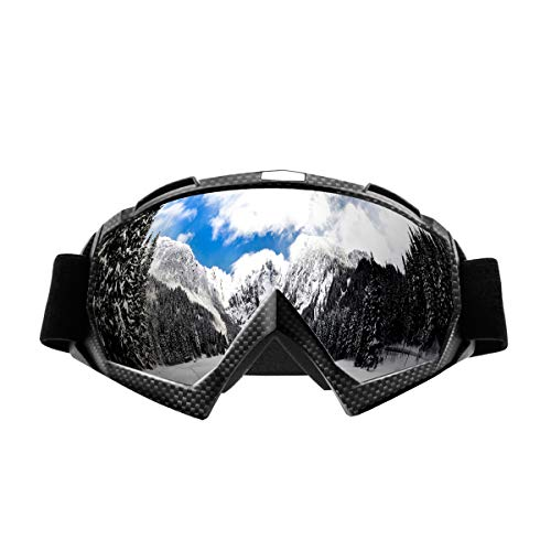 Wellovar Motorcycle Goggles,ATV Goggles Dirt Bike Ski Goggles Windproof Scratch Resistant Combat Goggles Adjustable UV Protective Safety Outdoor Glasses for Cycling, Climbing, etc