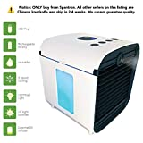 Spantron Portable Air Conditioner Fan - Best 5-in-1 Personal Home & Office Desk Swamp Cooler, Mist Diffuser, Humidifier with LED Light and UV Purifier | USB Plug & 2 Hour Rechargeable Battery