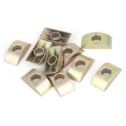 uxcell 8mm Hole Alloy Furniture Fittings Connector Half Moon Nut Spacer 10 Pcs