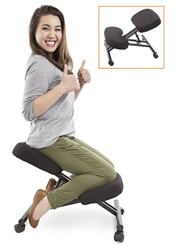 ProErgo Ergonomic Kneeling Chair -Adjustable Height - Office Seating With an Edge! Perfect for Relieving Back and Neck Pain & Improving Posture - Great Fit for Home, Office, or Classroom!