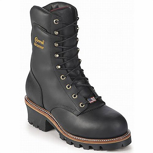 Chippewa Men's 9' Waterproof Insulated Steel-Toe EH Logger Boot