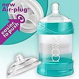 Healthier Than Baby Bottles - 4oz Single - Bare Air-Free Feeding System w/Perfe-Latch & Easy-Latch Nipples - Reduces Reflux, GERD, Gas & Colic - Improves Breastfeeding Latch