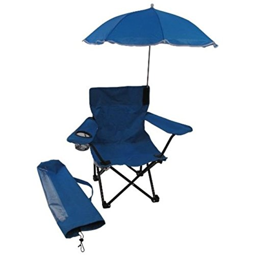 Redmon Umbrella Camping Chair with Matching Shoulder Bag, Blue