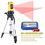 Line Laser Level with Tripod, Auto Leveling Kit Combo with Horizontal/Vertical/Cross-Line, Dual-module Self-Leveling Tool Set for Builders & Contractors