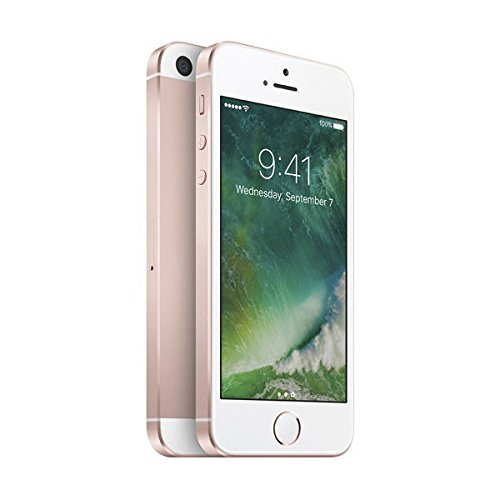 Apple iPhone SE, GSM Unlocked, 64GB - Rose Gold (Renewed)