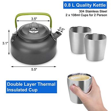 Odoland-10pcs-Camping-Cookware-Mess-Kit-Lightweight-Pot-Pan-Kettle-with-2-Cups-Fork-Spoon-Kit-for-Backpacking-Outdoor-Camping-Hiking-and-Picnic