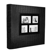 RECUTMS Leather Cover Slots Album 400 Pockets,Black Pages Horizontal and Vertical 4x6 Photos 5 Per Page Large Capacity…