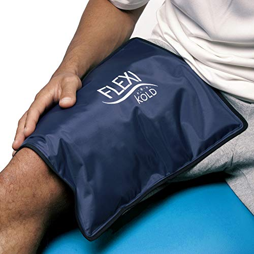FlexiKold Gel Ice Pack (Standard Large: 10.5' x 14.5') - One (1) Reusable Cold Therapy Pack (for Pain and Injuries, wrap Around Knee, Shoulder, Foot, Back, Ankle, Neck, Hip, Wrist) - 6300-COLD
