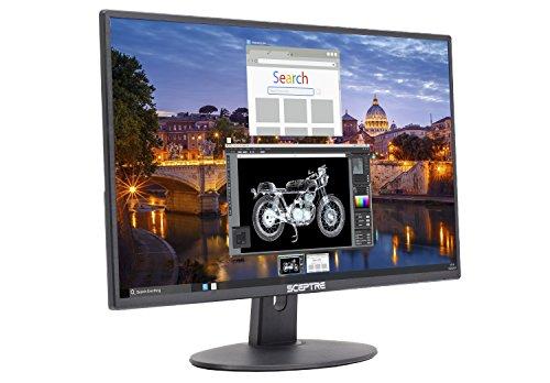 Sceptre E225W-19203R 22' Ultra Thin 75Hz 1080p LED Monitor 2x HDMI VGA Build-in Speakers, Metallic Black 2018