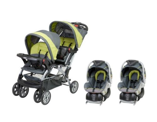 Baby Trend Sit N Stand Inline Double Baby Stroller Twin Car Seat