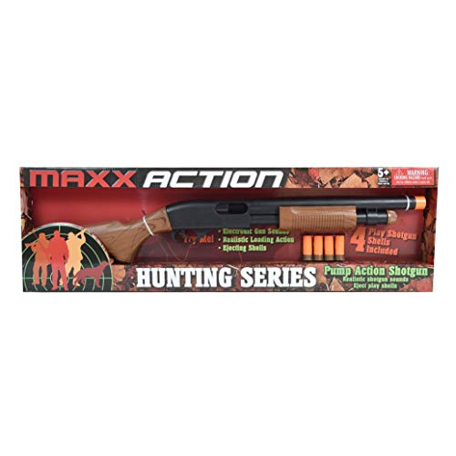 Sunny Days Entertainment Maxx Action 30' Toy Pump Action Shotgun with Electronic Sound & Ejecting Shells