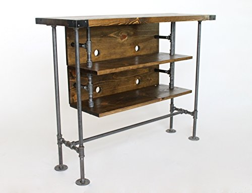 tall tv stand ready to ship rustic television console custom tv