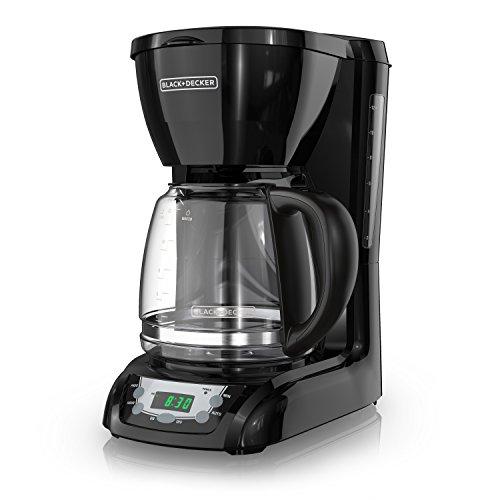BLACK+DECKER 12-Cup Programmable Coffeemaker, Black, DLX1050B